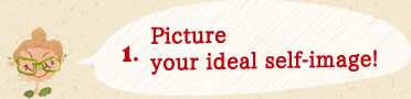 1.Picture your ideal self-image!
