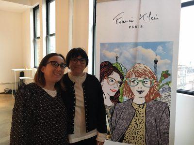 デザイナーのディキシー(写真右)とベティ(写真左)もとても喜んでいました。