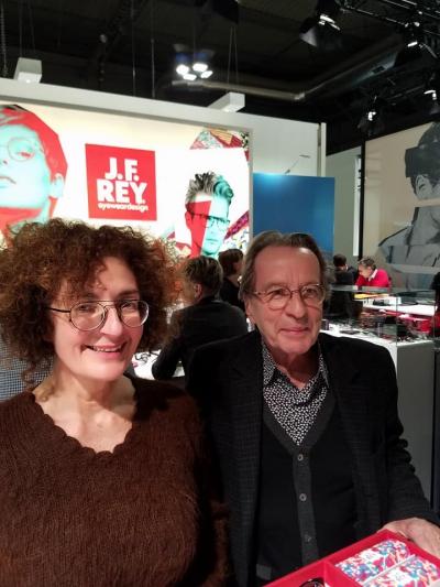 フランスのJ.F.REY & BOZ デザイナーのレイ氏とエキスパートセールスのナディーンさん。 4月に表参道ヒルズ店でイベントを開催します。 お二人も来店される予定ですのでお楽しみに!