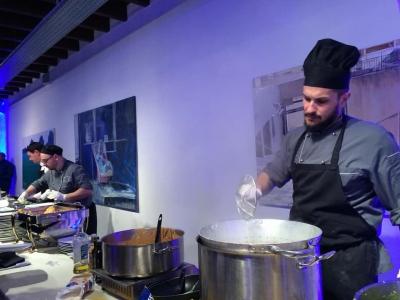 内部の写真は詳しくお見せ出来ません。イベント後は、パーティーで美味しいイタリアンをいただきました